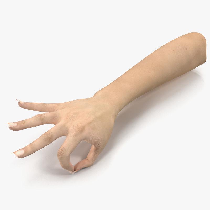 Female Hand c4d 3d model 00.jpg