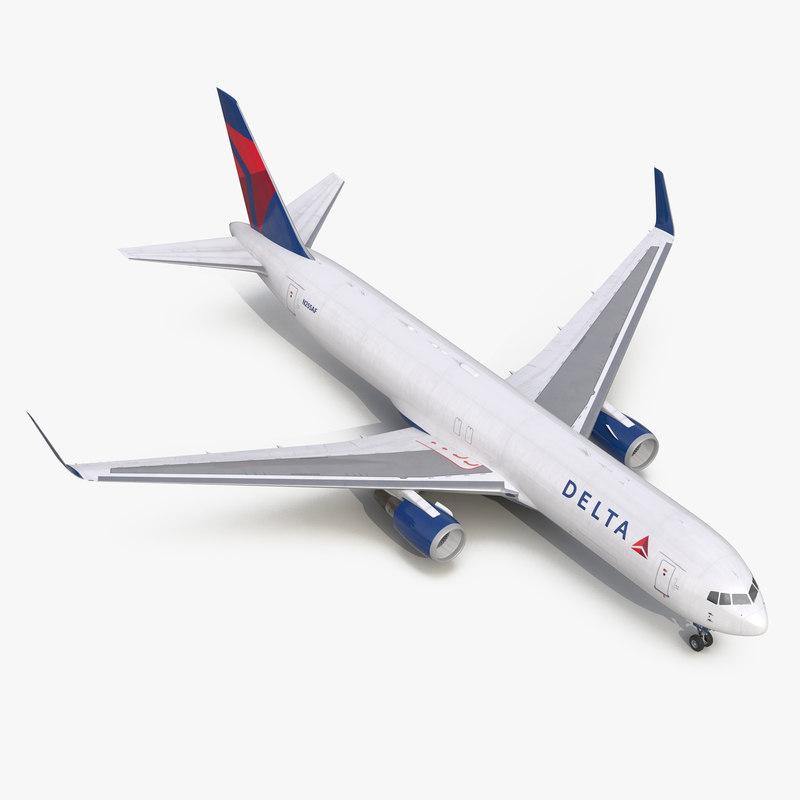Boeing 767-300F Delta Air Lines 3d model 00.jpg