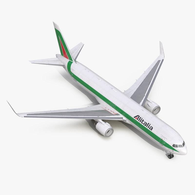 Boeing 767-300F Alitalia vray 3d model 00.jpg