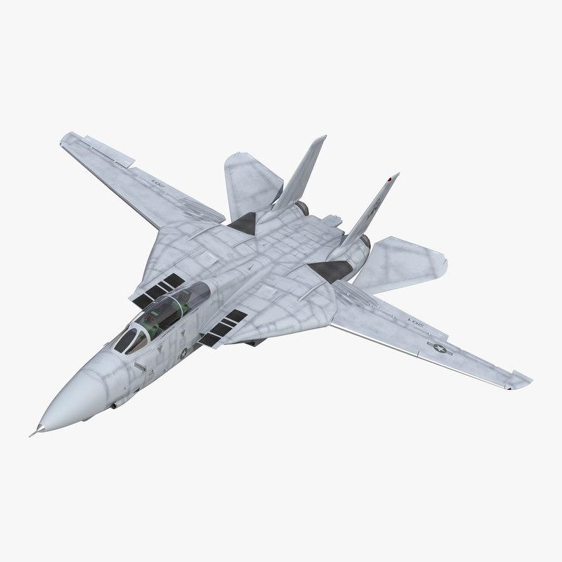 F-14 Tomcat US Combat Aircraft Rigged 3dsmax vray 3d model 00.jpg