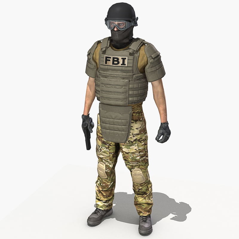 crye multicam uniform 3d model Fbi Combat Uniform