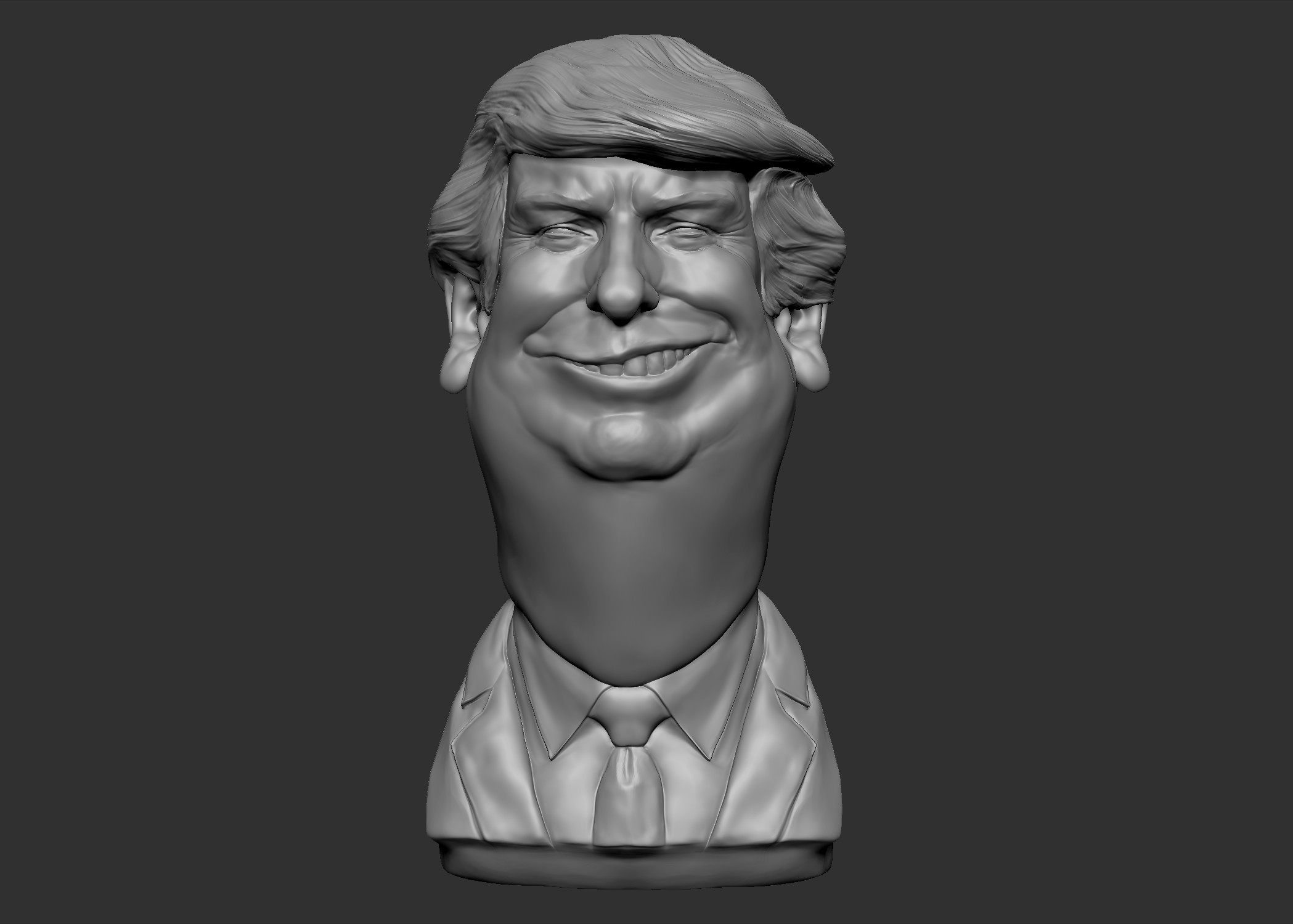 3d model donald trump caricature cartoon for Donald model