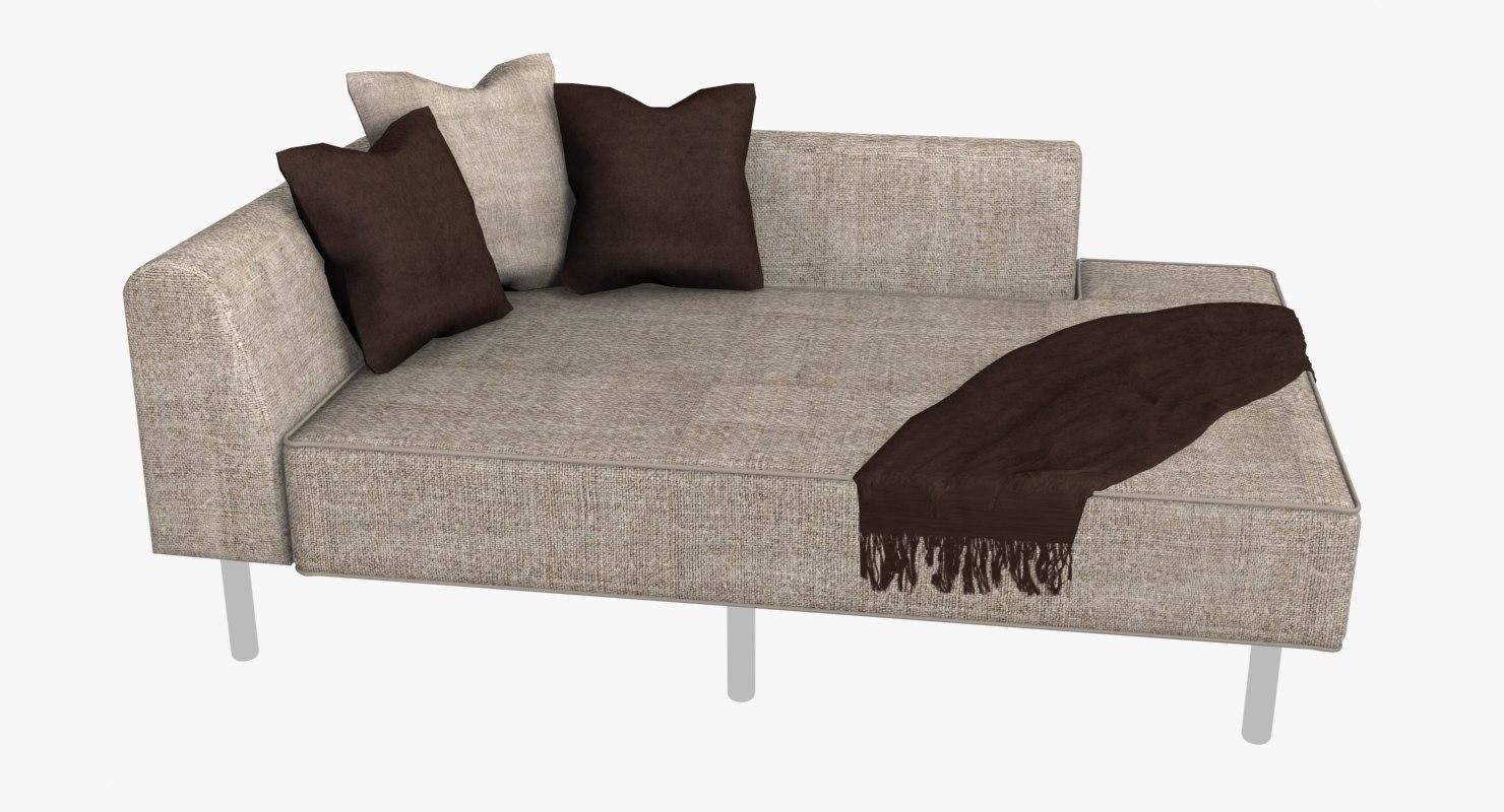 Modern chaise sofa 3ds for Chaise quadriceps
