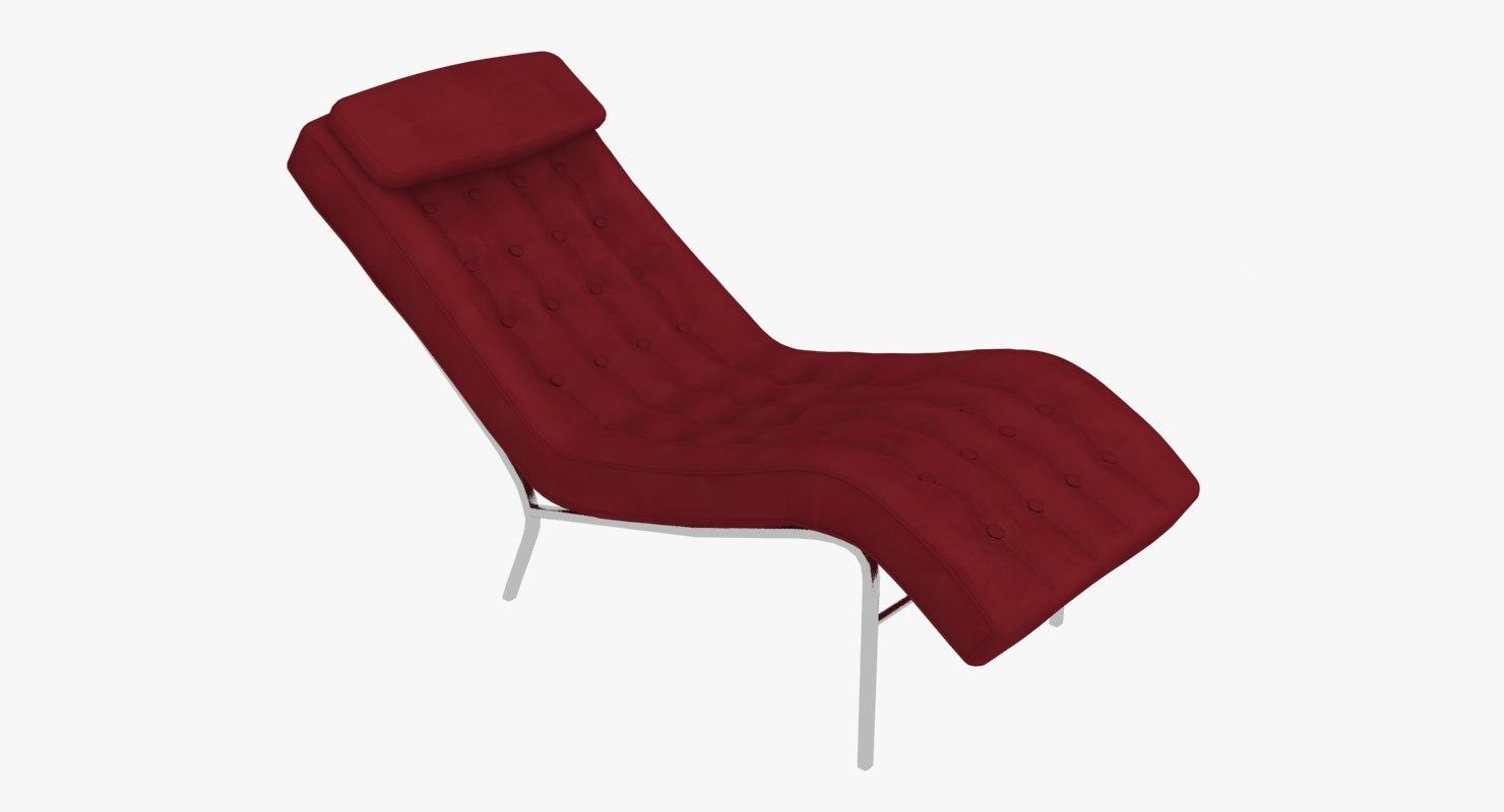 Modern chaise lounge chair max for Chaise quadriceps