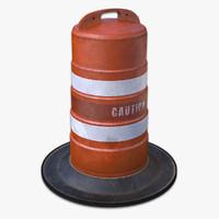 barrel barricade 3D models