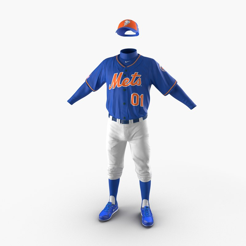 Baseball Player Outfit Mets c4d 3d model 00.jpg