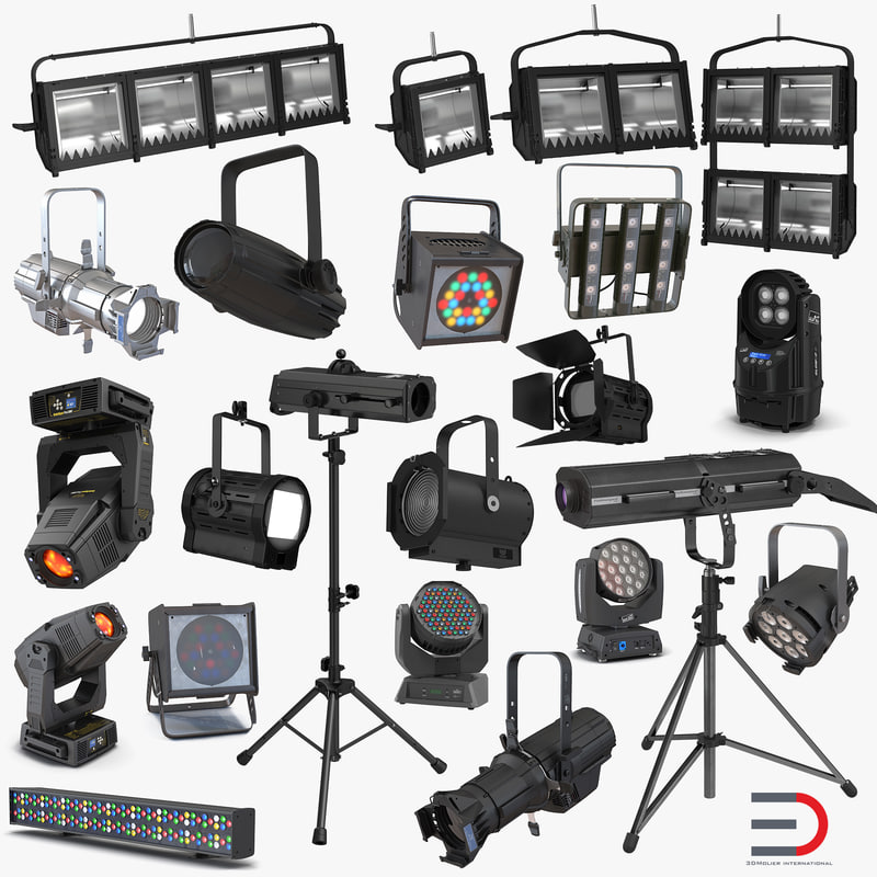 Stage Lighting Collection vray 3d models 000.jpg