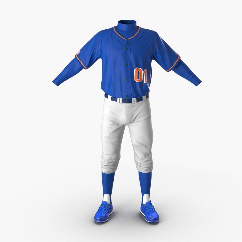 Baseball Player Outfit Generic mb 3d model 00.jpg