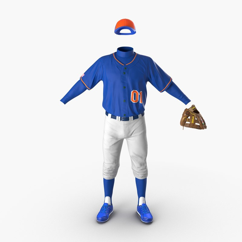 Baseball Player Outfit Generic vray 3d model 00.jpg
