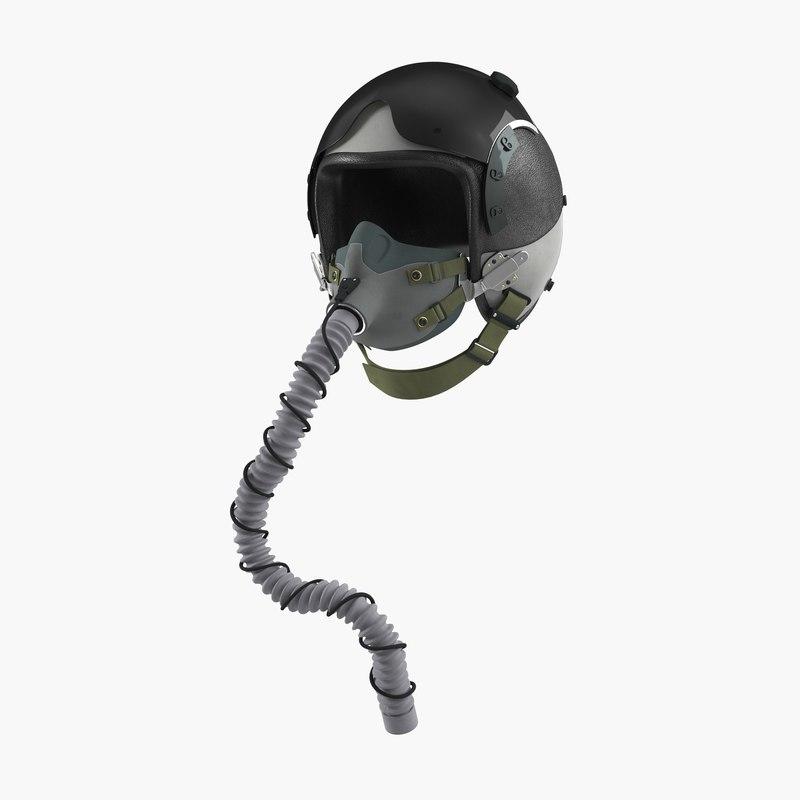 US Military Pilot Helmet vray 3d model 00.jpg