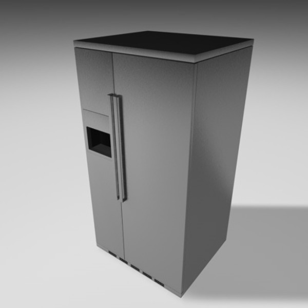refrigerator 3d model - Refrigerator_002... by desigm