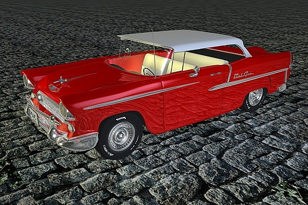 3dsmax classic chevrolet - Chevrolet 1950s Bel Air (With Interior)... by Whong