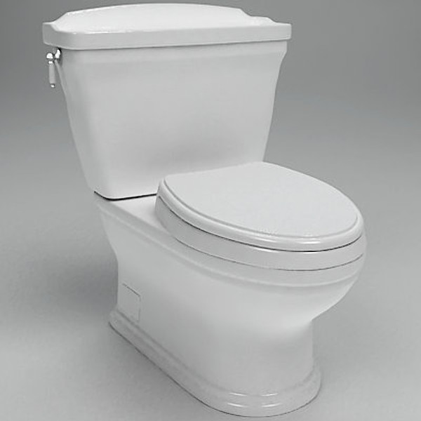 toto carrollton toilet cst774s 3d model - TOTO Carrollton Toilet CST774S... by ts303