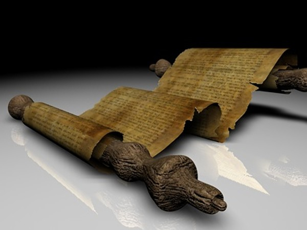 papyrus scroll 3d model - Ancient Papyrus Scroll... by Whong