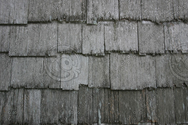 Old Shingled Roof Texture