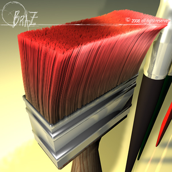 paint brush c4d - Paint brushes... by BraZ