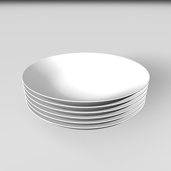 3d model plates - Plates_002... by desigm