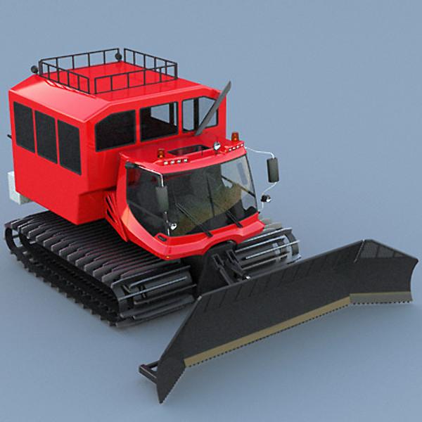 Snowcat PistenBully 600 with passengers cab 3D Models