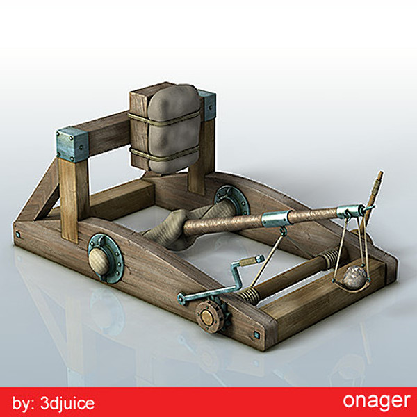 3d medieval onager model - onager.zip... by 3djuice