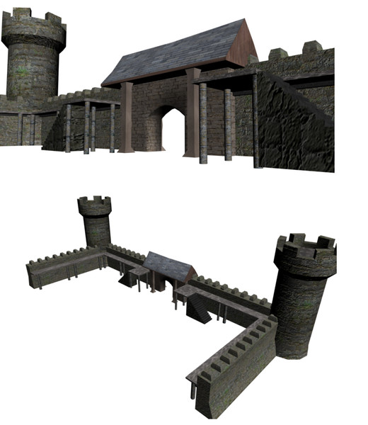 3ds wall b3d castle - Castle Set... by newfnlandr