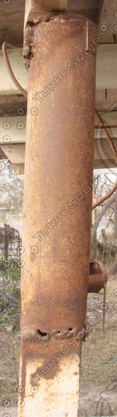 Rusty Metal Pole