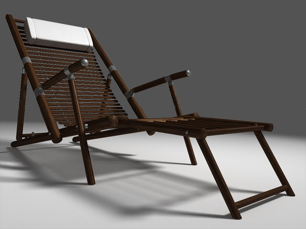 3ds max deck chair - Deck Chair... by bemola