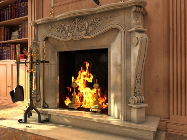 fireplace classic 3d 3ds - FireplaceClassica.zip... by kupfer