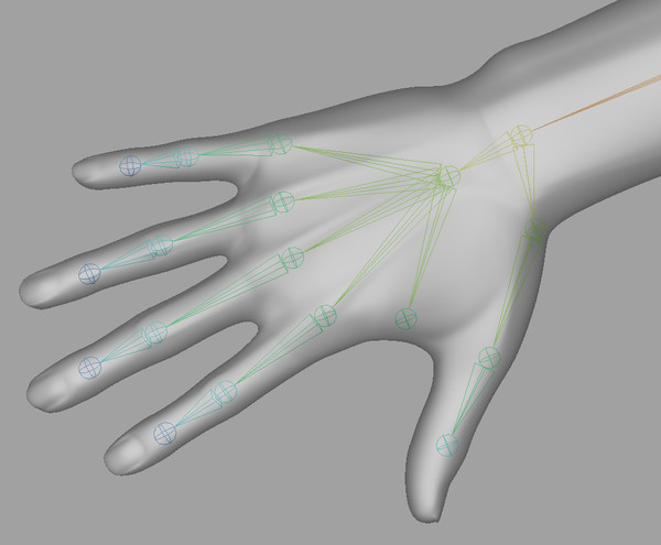 hand quad high-res 3d model - Male Hand (Jointed)... by kenbishop