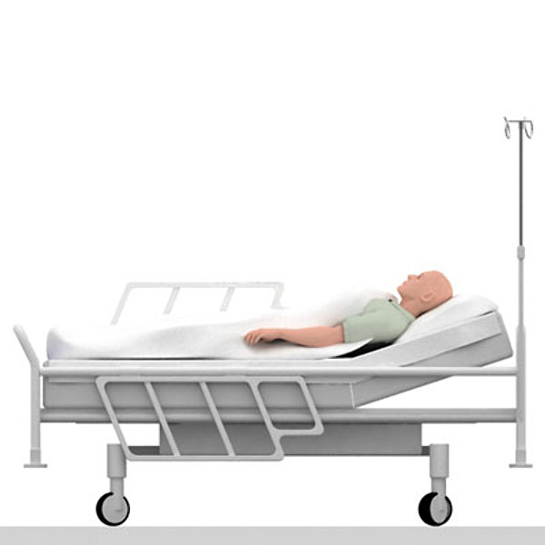 icu hospital bed patient 3d model - ICU Hospital bed with patient... by kasperns