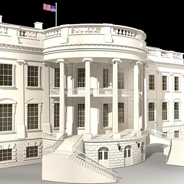 3d model white house complex - White House Complex... by BraZ
