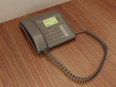 office phone 3d model - Office Phone... by Chris123643