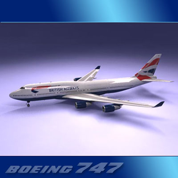 airlines 747 jumbo jet 3ds - Boeing 747-400 Collection... by PerspectX