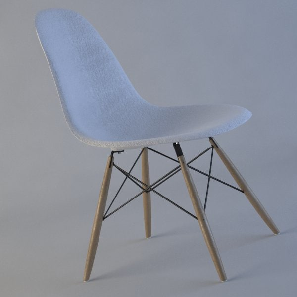 3d 3ds chair charles eames plastic - Eames Plastic Side Chair... by BBB3viz