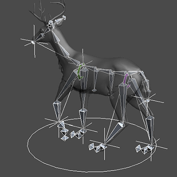 reindeer elk deer 3ds - Rigged Deer... by NONECG