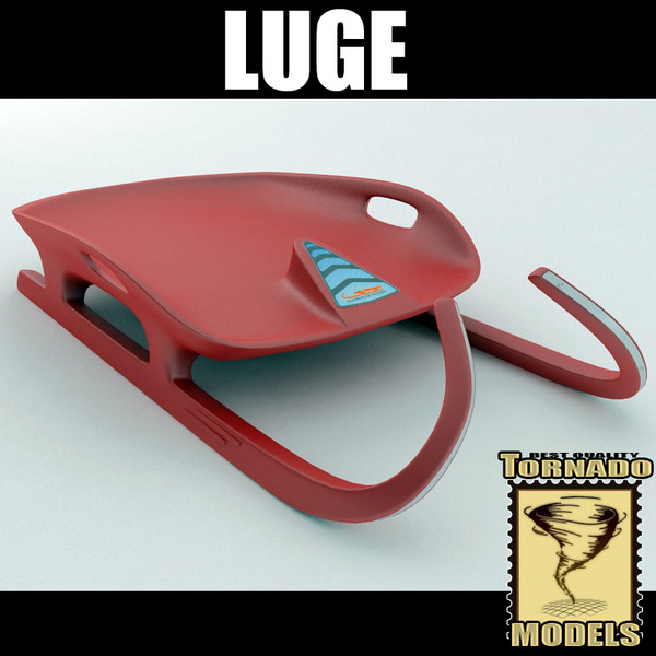 3d model luge sled - Luge Sled... by Tornado Studio