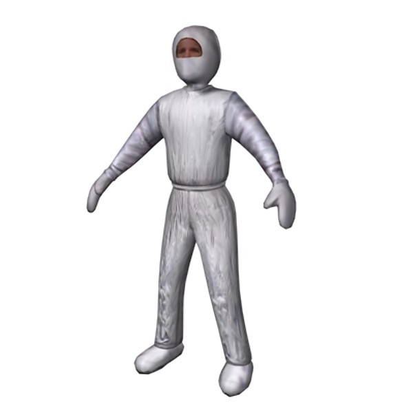 clean suit man 3d model - Clean Suit Man... by Mickey Models