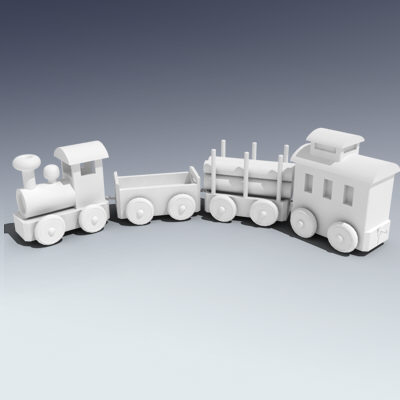 wooden toy train 3ds - Toy Train... by Adam Walker Film