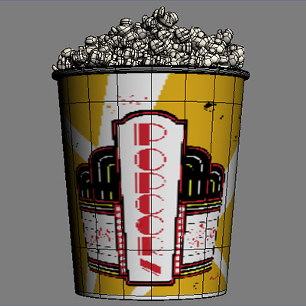 3d pop corns model - Popcorns 02... by coboide