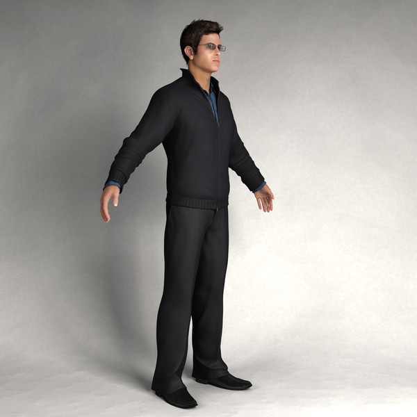3d digital body model - CMan0002-HD2-CS... by axyzdesign