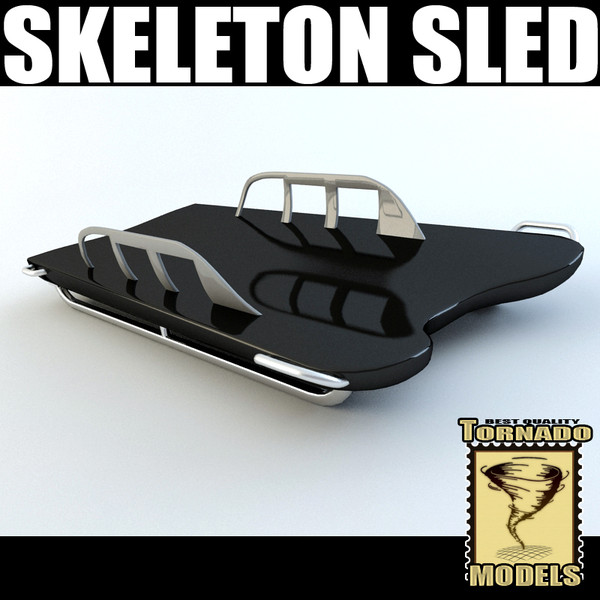 skeleton sled 3d model - Skeleton Sled... by Tornado Studio