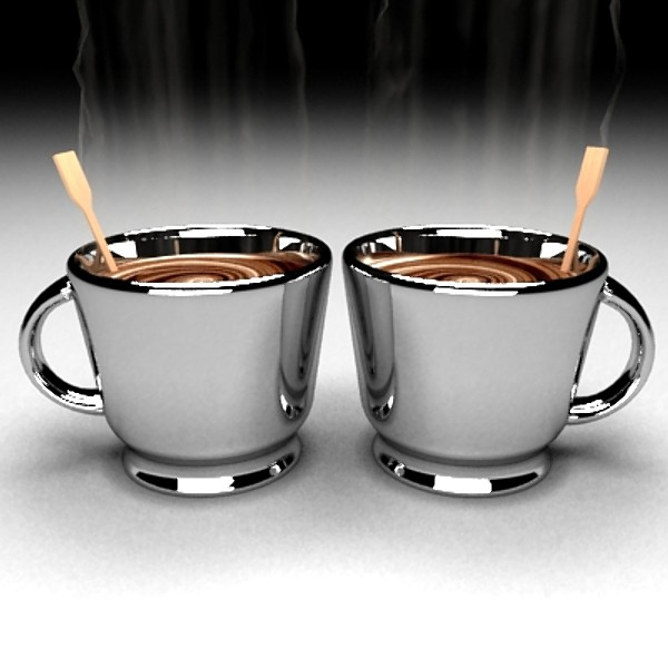 steaming java chrome 3ds - Chrome Coffee Mugs... by Zetawind Visual