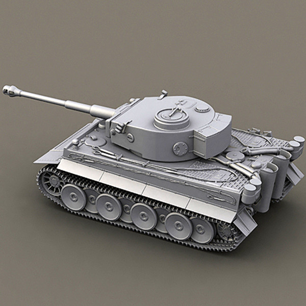 3dsmax german tank tiger - WWII german tank - tiger... by Sunnncho
