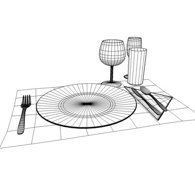 3d table setting model - Table setting... by eyescream