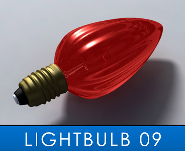 3ds max christmas light bulb - Lightbulb_09... by lightfiretech
