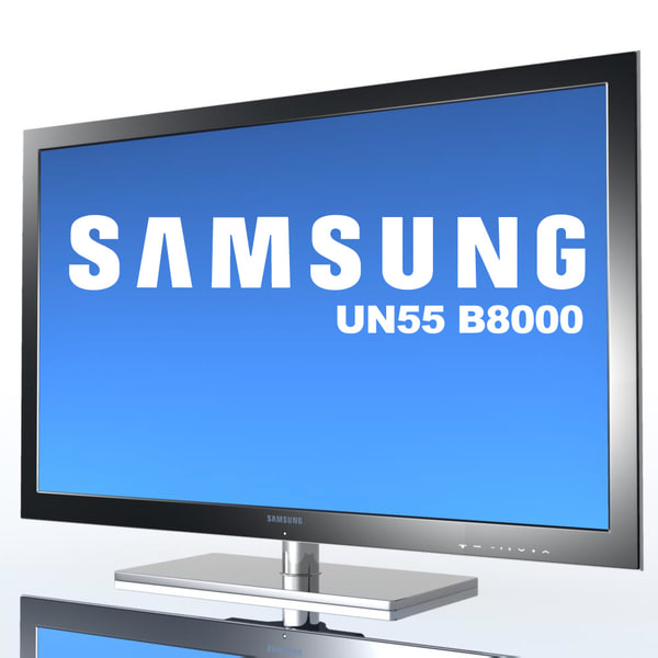 tv samsung un55 b8000 3d model - TV SAMSUNG UN55 B8000 MF... by 3DLocker