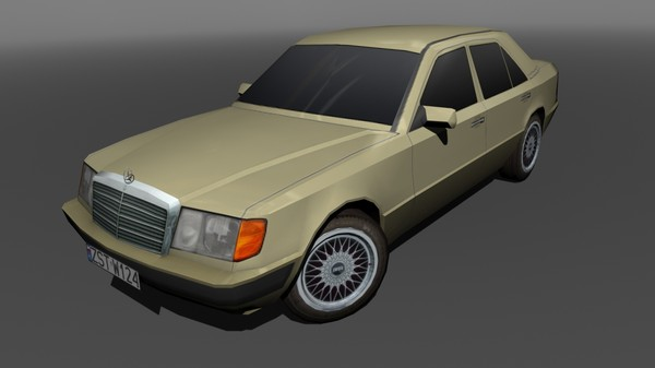 3d mercedes w124 300d model - Mercedes W124 300D... by machin3d
