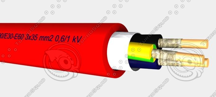 Halogen free installation cable with circuit integrity FE90_E30-E60 3x35 mm2 0,6 1 kV .max