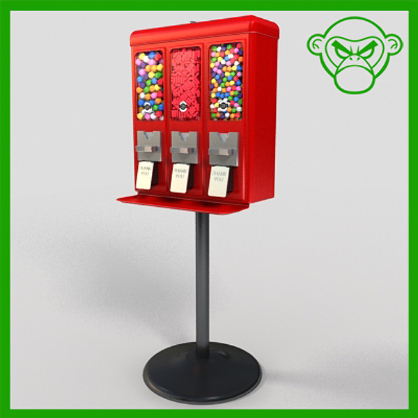 gumball machine 1 3d model - gumball machine 1... by monkeyodoom