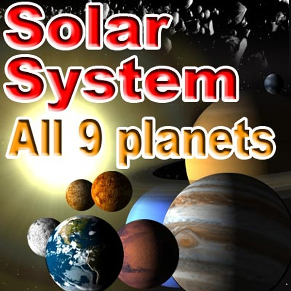 solar planets 3d model - Solar System... by Zetawind Visual