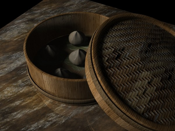 Asian Steamed Buns 3D Models